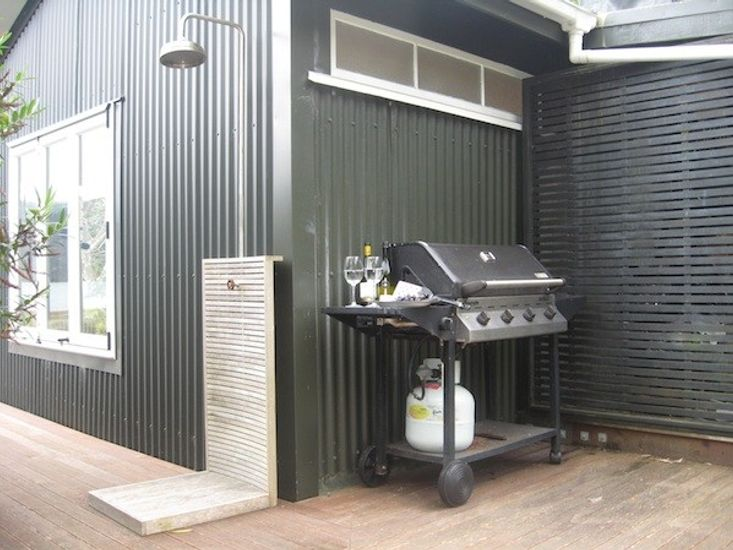 BBQ and Outdoor Shower
