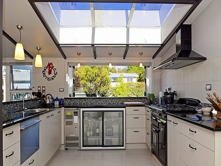 Kitchen with Servery Window