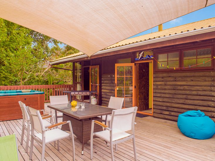 Outdoor Living - Back Deck - *Please note spa is not available for guest use*