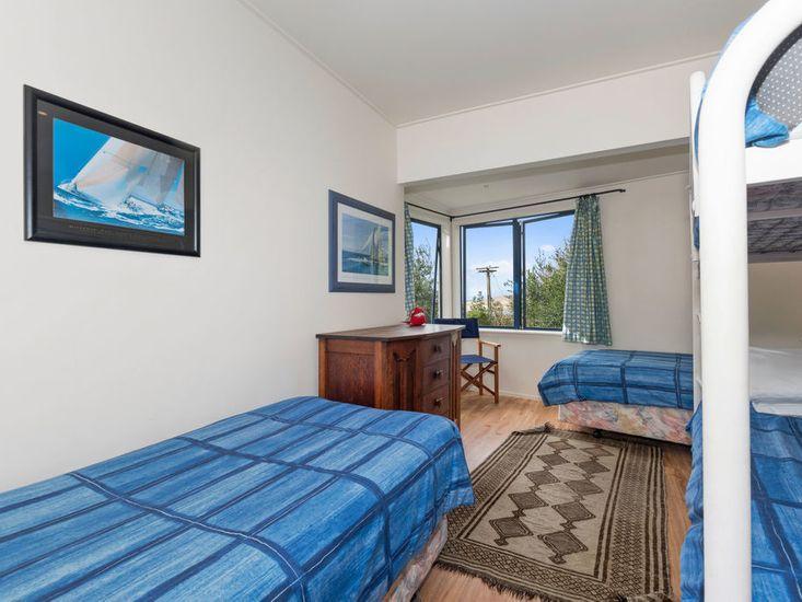 Bedroom 2 - 2 Single Beds & 1 set of Single Bunk