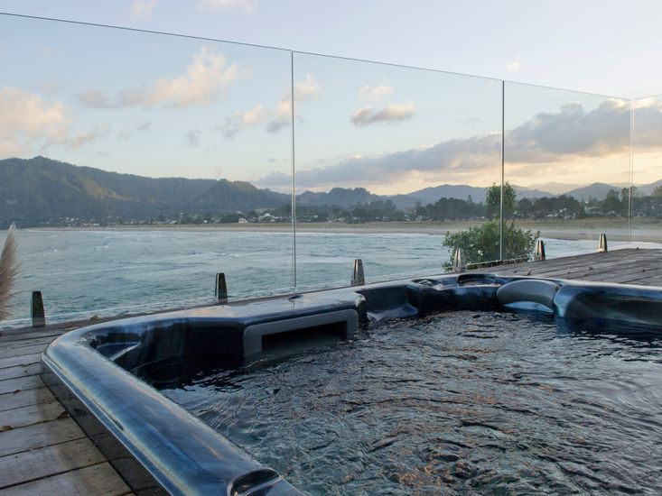 Stunning Views from Spa Pool at Tairua Magic