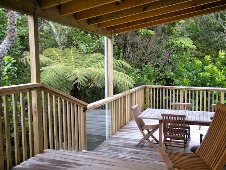 Tiromoana - Mathesons Bay Holiday Home. Outdoor Living