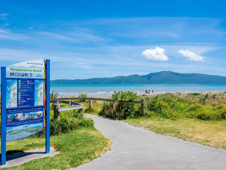 Access to Paraparaumu Beach (photo not taken from the property)