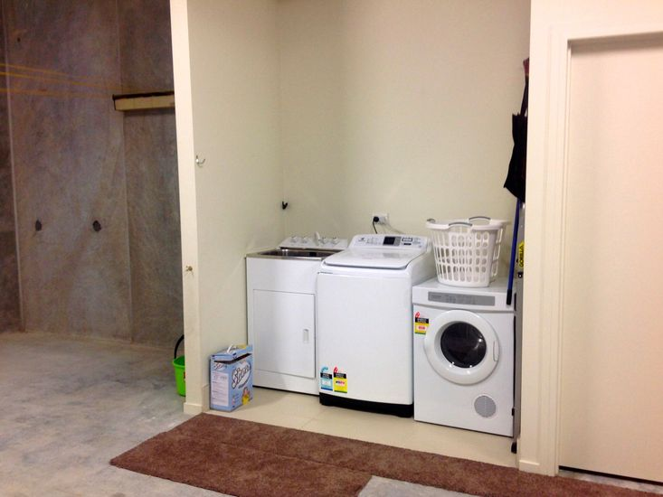 Laundry in Garage