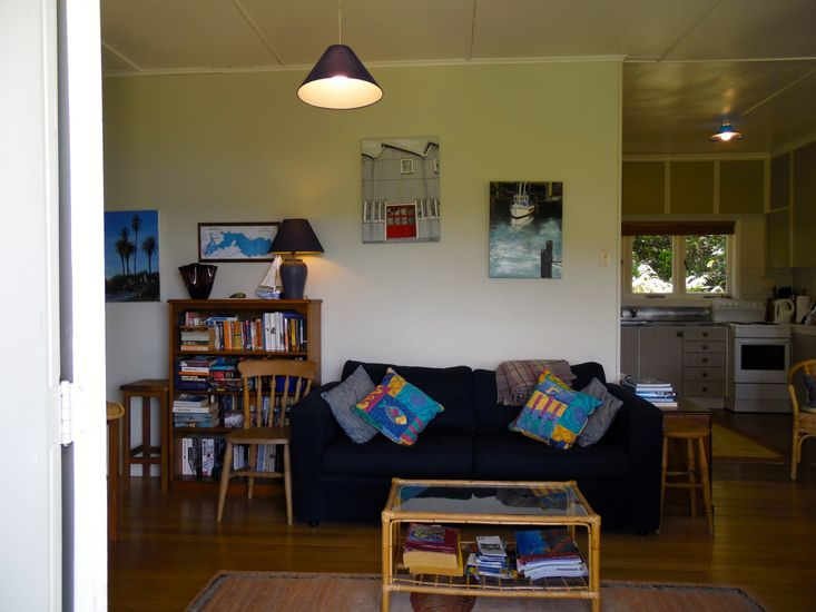 Lounge from the Kiwi Bach