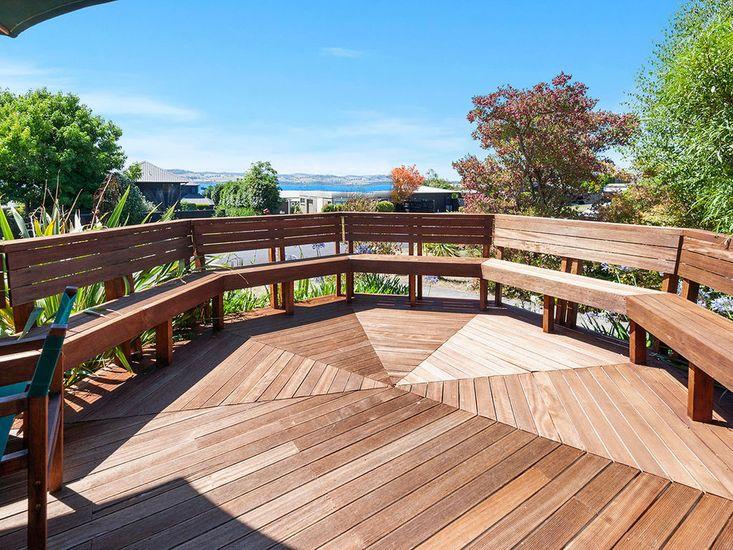 Deck with Lake Views