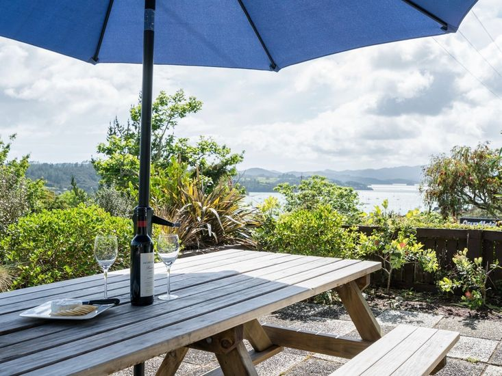 Outdoor Living & Views from Blue Peter - Opua Holiday Home