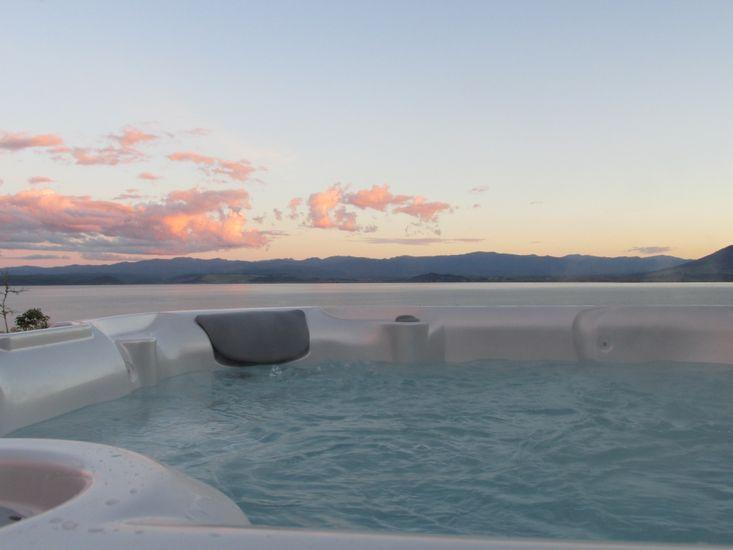 Spa and Lake Views