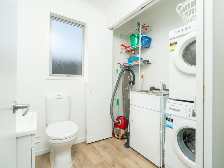 Toilet and Laundry Room