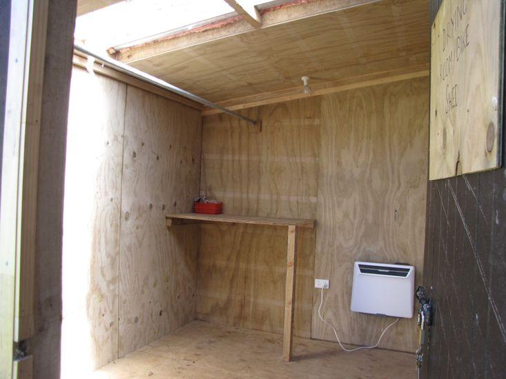 Drying room & bike, ski & snowboard storage shed
