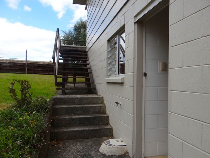 Exterior entrance to downstairs