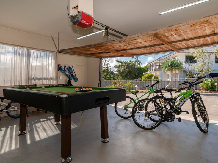 Pool Table and Bicycles