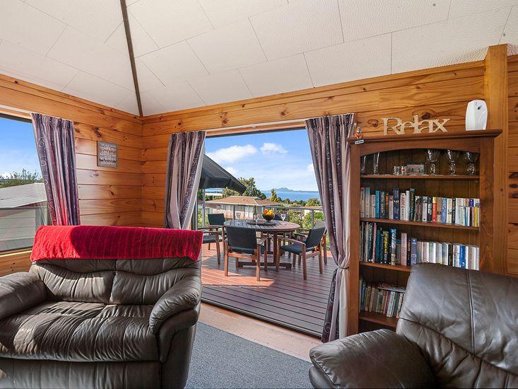 Lounge onto deck