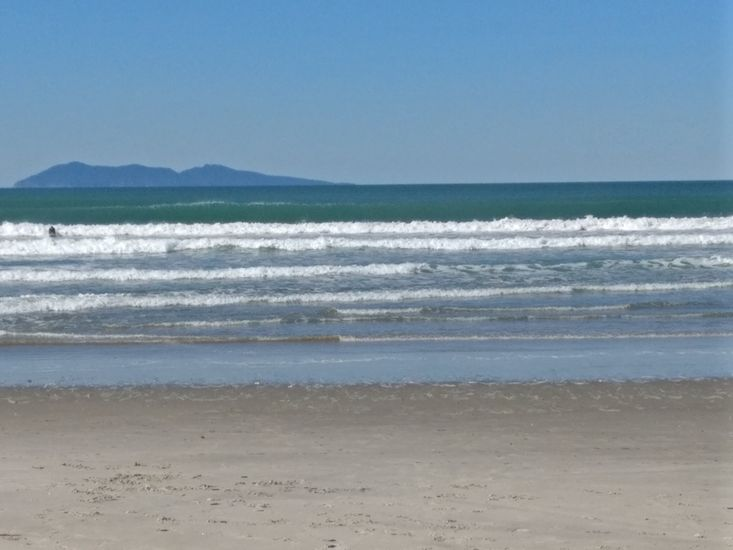 Waihi beach, located a 5 minute walk away from the property