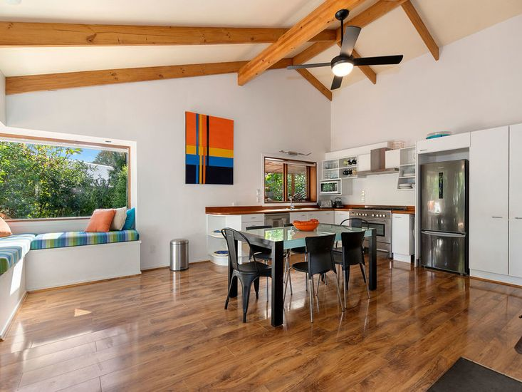 Dining, Kitchen with Fireplace
