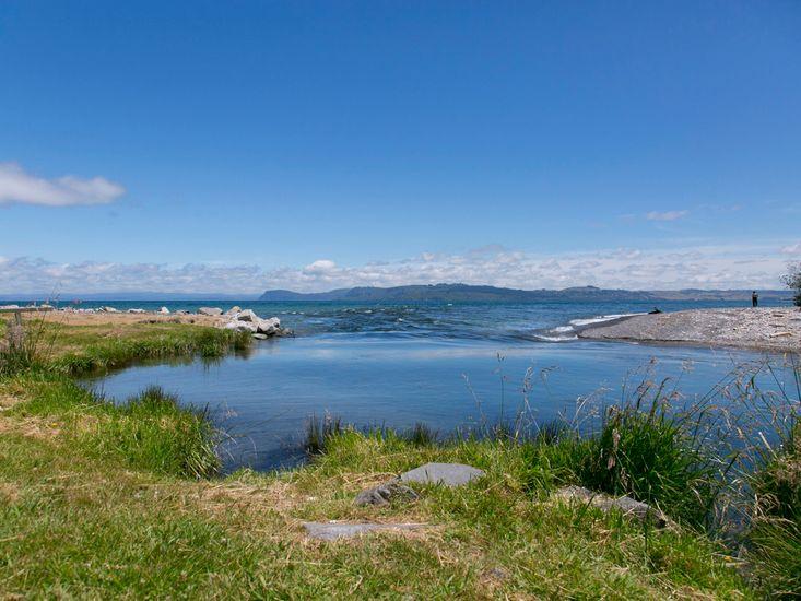 Waitahanui River Mouth and Lake Taupo
