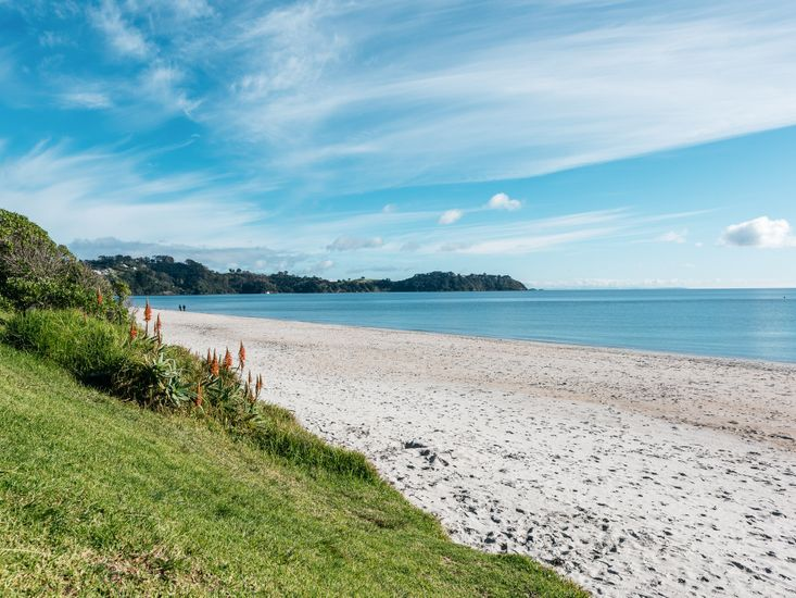 Onetangi Beach - less than a minute from the property
