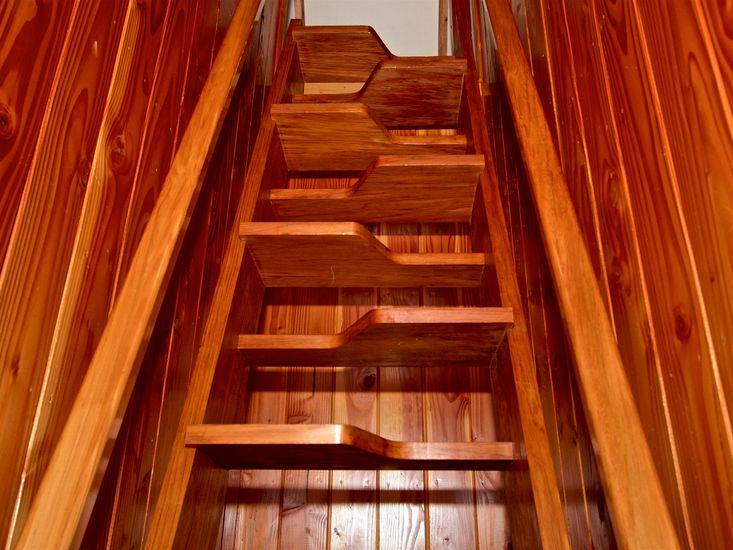 Upstairs / Mezzanine Access - please take care