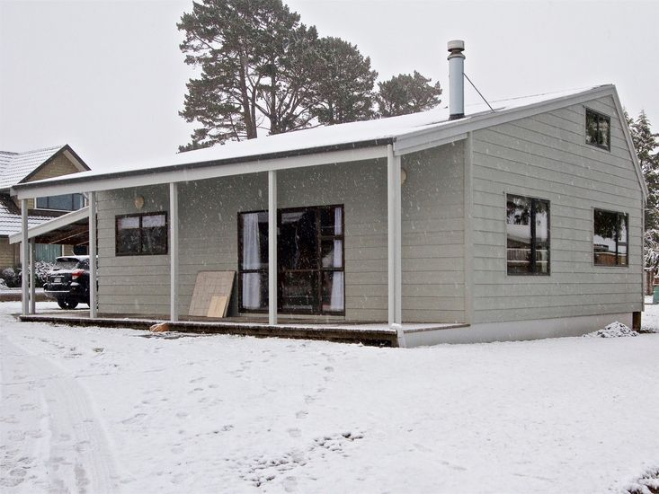 Exterior in the snow