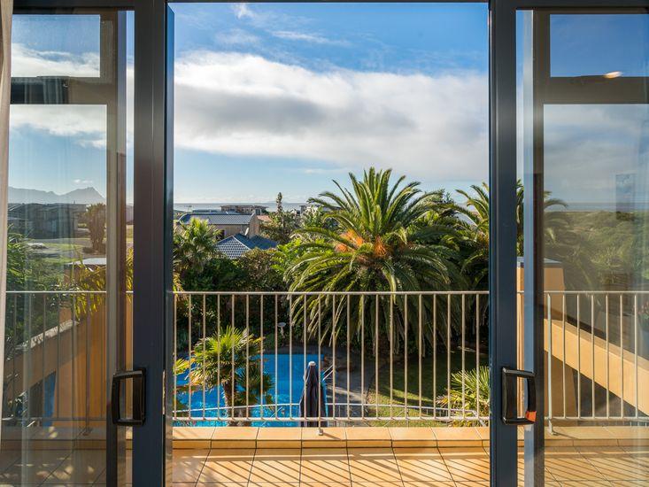 Pool views from Bedroom 1