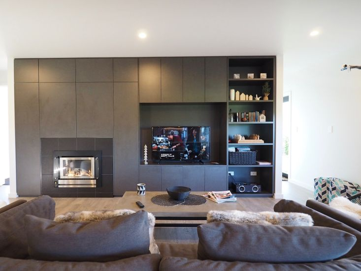 Living Area - *Please be advised that due to repairs, the TV currently in place is smaller than the one shown on the photos.*