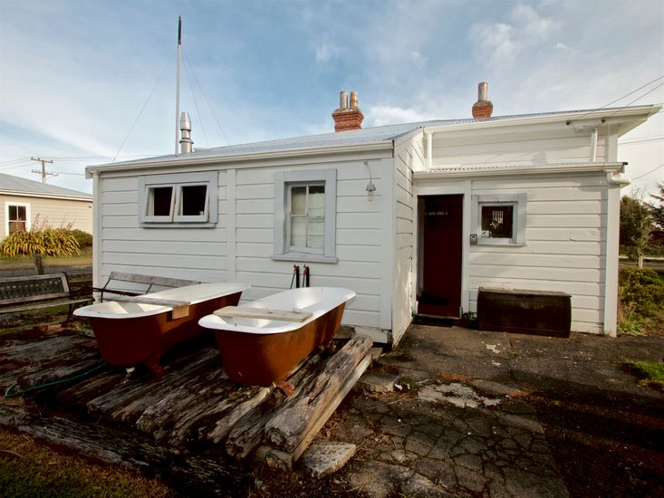 Outdoor Baths - care will need to be taken when using the deck, due to uneven surfaces and debris