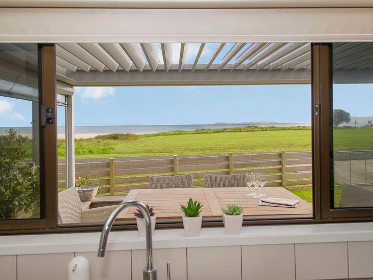 Beachside Beauty - Kuaotunu Holiday Home - Views from Kitchen Window