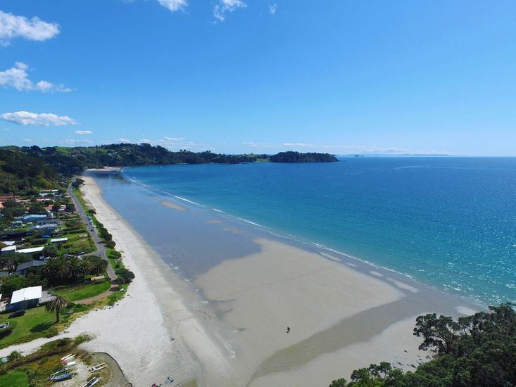 Onetangi Beach - Aerial View