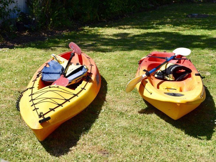 Kayaks on site