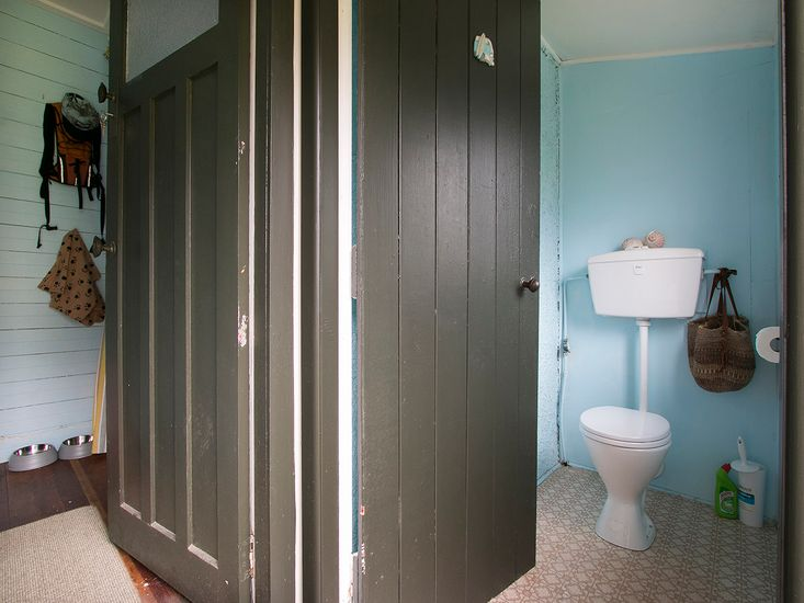 Toilet - Please note that the toilet can only be accessed externally via the back porch.