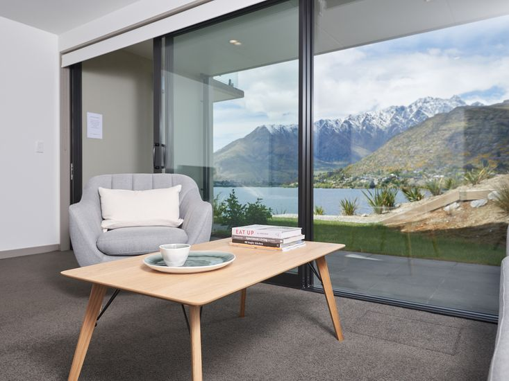 Lakefront views from this Queenstown apartment