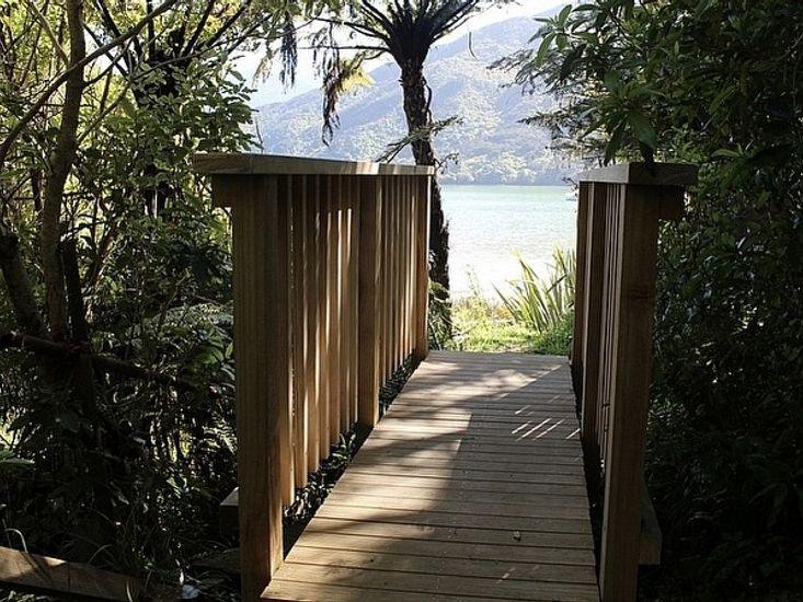 Bridge to waterfront