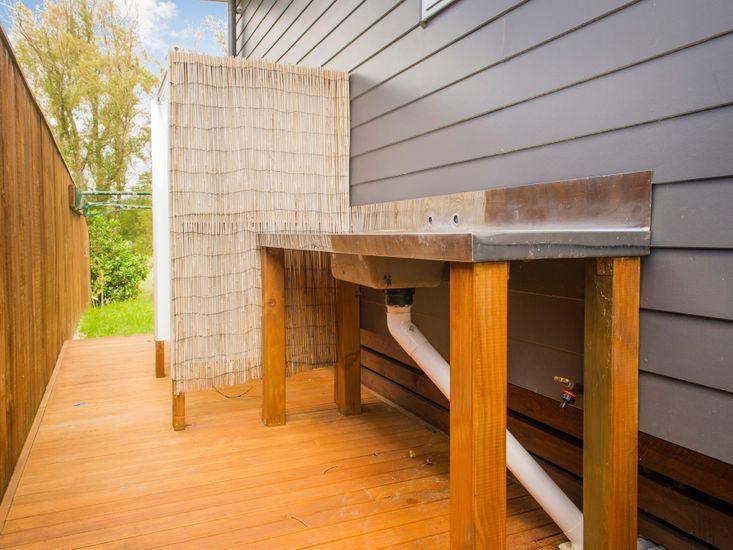 Outdoor Bench/Shower