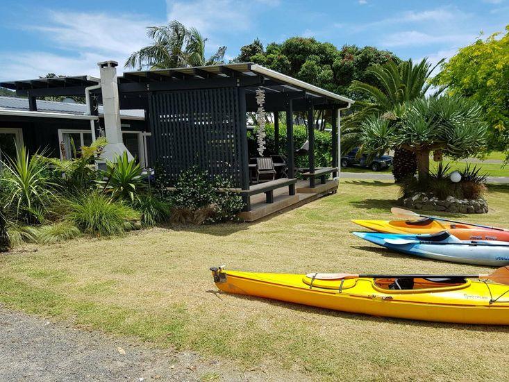 Kayaks & Garden