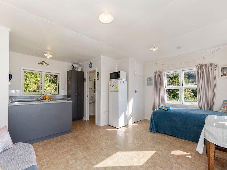 Lounge onto Kitchen and Bathroom