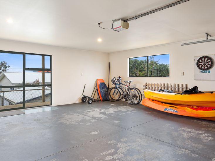 Garage with Bikes and Kayaks