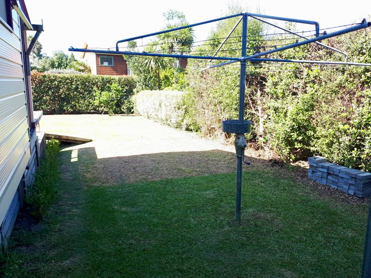 Clothesline and Lawn