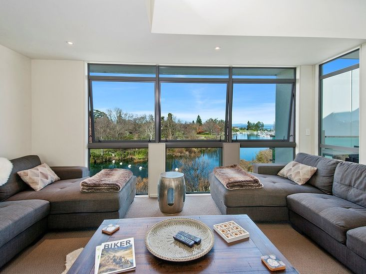 View of the Waikato River from the Lounge