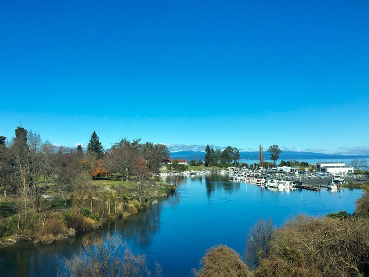 View of the Boat Harbour on the Waikato River