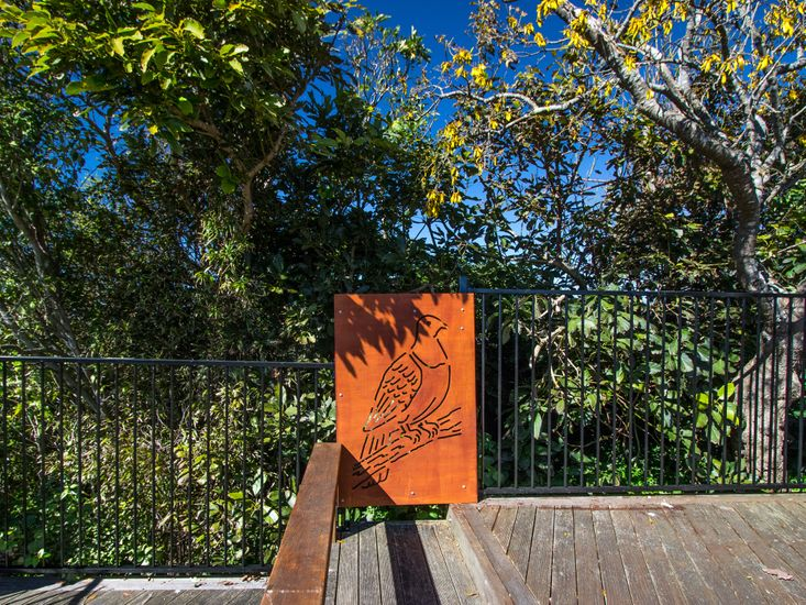 Outdoor decor and kowhai trees