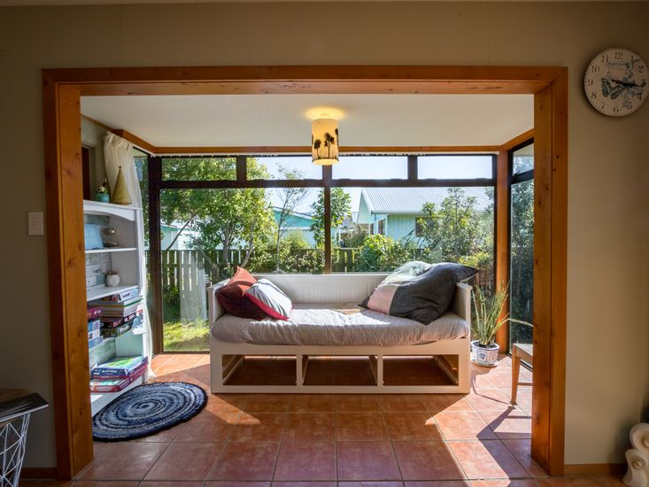 Sun soaked day bed / reading nook!