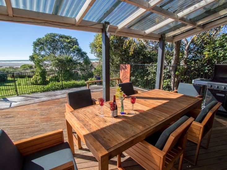 Outdoor living and dining on the deck!