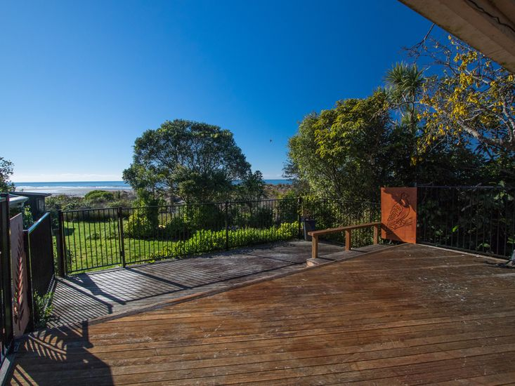 Sun drenched deck