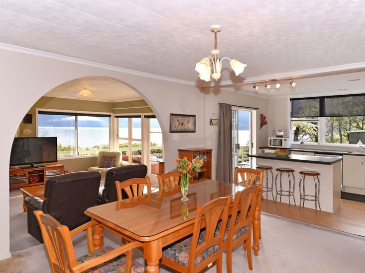 Dining Room onto Kitchen and Lounge