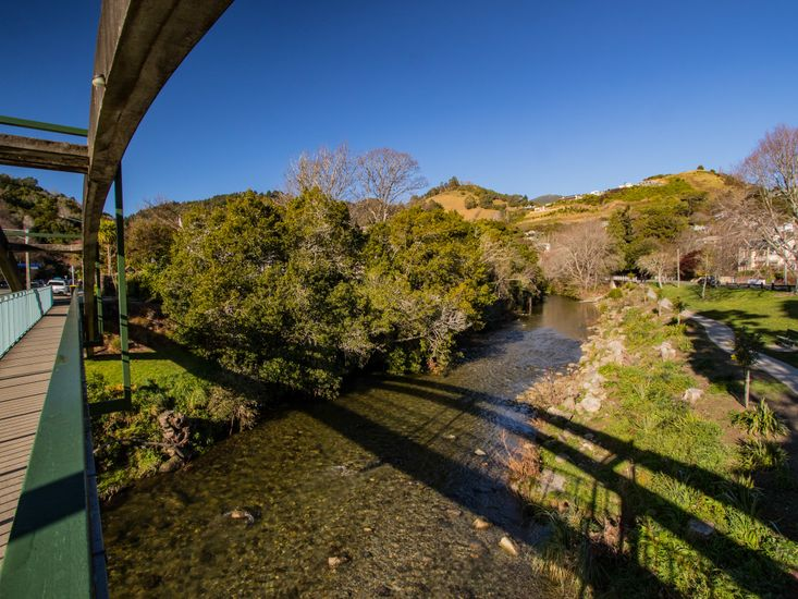 Walk Bridge across the Matai river - House is secluded in the trees