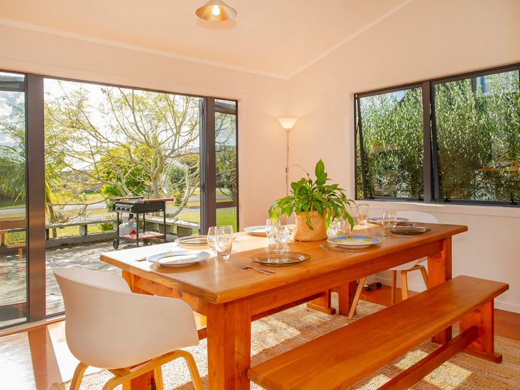 Dining table and access to decking