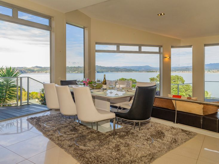 Views from dining table and living area