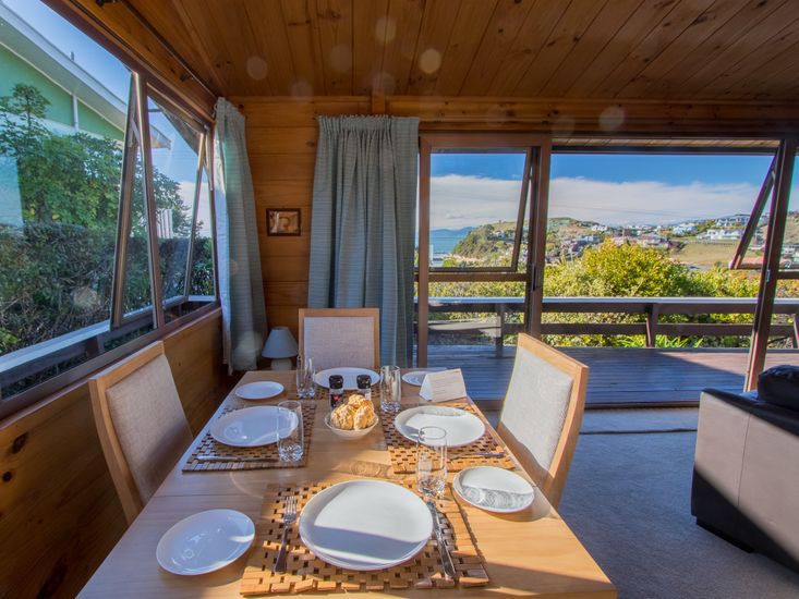 Dining table with a view!
