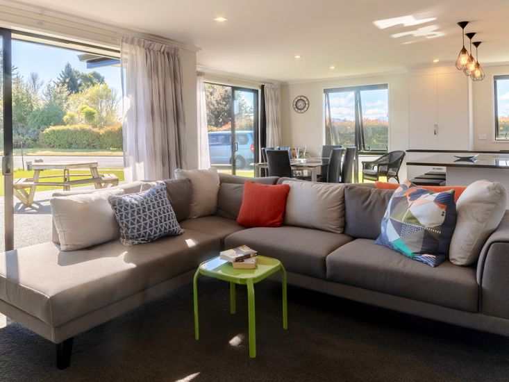 Living area onto outdoor patio