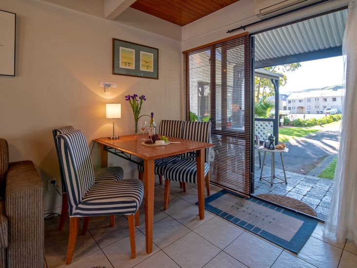 Dining table onto outdoor patio